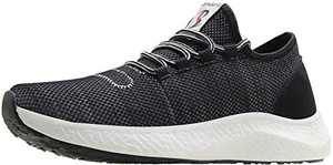 BenSorts Gym Shoes for Men Tennis Comfortable Walking Lightweight Sneakers for Workout Training Running Size 12 Black Gray