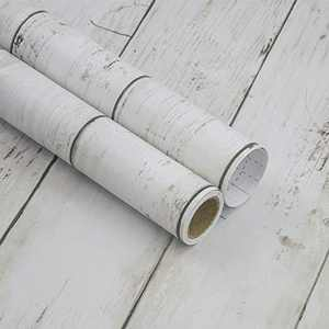 practicalWs 17.7'' ×78.7'' White/Grey Wood Wallpaper Peel and Stick Wood Wallpaper Self Adhesive and Removable Wooden Wall Coverings Decorative Wood Plank