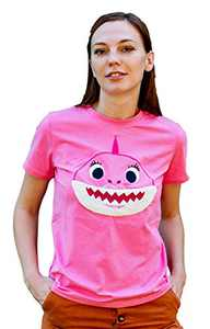 ComfyCamper Shark Shirt for Baby Boys Girls Kids Toddler Daddy Mommy and The Entire Family, Pink, L