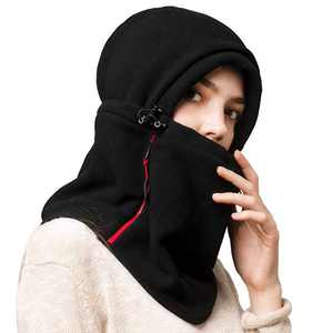 Camptrace Multifunction Fleece Balaclava Hood Women Men, Adjustable Winter Ski Face Mask Neck Warmer for Cold Weather with Zip Stash Pocket for Skiing Cycling Running Fishing Motorcycle