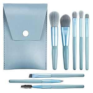 Makeup Brushes,WeChip 8pcs Mini Makeup Brush Set Premium Synthetic Foundation Brush Powder Concealers Brush Eyelash Eye shadow Eyebrow Brush Lip Brush
