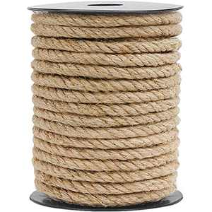 HOMYHOME Jute Rope Natural Jute Twine 8mm 49.2ft Rope Cord Craft for Packaging Arts Crafts Decoration Bundling Gardening Home Industrial Cat Scratching Post