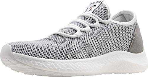 BenSorts Mens Sneakers Comfortable Walking Shoes Mesh Tennis Shoes for Gym Workout Running Size 9.5 Grey