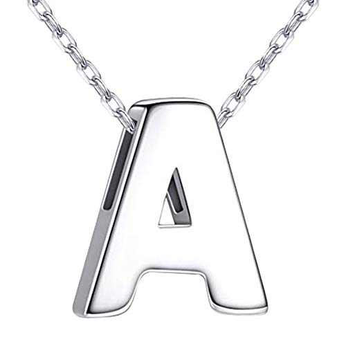 NovGarden Initial Letter Necklace Personalized, Custom Sterling Silver Dainty Necklace Charm Pendant Prom Jewelry for Little Girls, Women