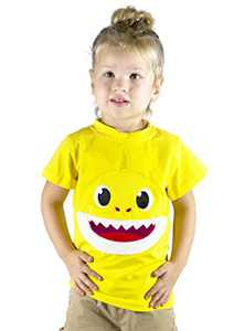 ComfyCamper Shark Shirt for Baby Boys Girls Kids Toddler Daddy Mommy and The Entire Family, Yellow, 6-8