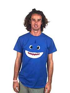 ComfyCamper Shark Shirt for Baby Boys Girls Kids Toddler Daddy Mommy and The Entire Family, Blue, S