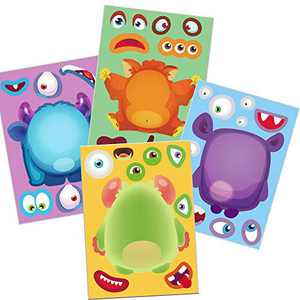Happy Storm Halloween Monster Stickers Halloween Party Games for Kids Make A Monster Stickers Halloween Activities for Monster Themed Birthday Party Favors