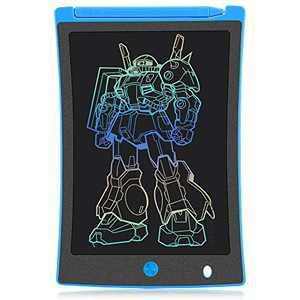 KURATU LCD Writing Tablet Electronic Drawing Pads for Kids, Portable Reusable Erasable Ewriter Elder Message Board, Digital Handwriting Pad Doodle Board for School, Fridge or Office (Blue)