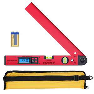 Proster 0~225° LCD Digital Protractor Spirit Level Angle Finder Gauge Meter for Carpenter Woodworking Home Decoration