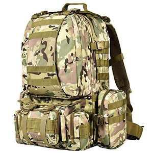 NOOLA Tactical Military Backpack Army Assault Pack Molle Bag Built-up Rucksack