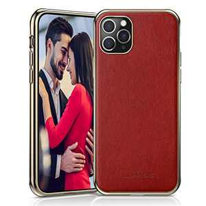 """LOHASIC for iPhone 11 Pro Case for Women, Slim Premium PU Leather Elegant Luxury Cover Drop Proof Anti-Slip Soft Grip Full Protective Phone Cases for iPhone 11 Pro(2019) 5.8""""- Red"""