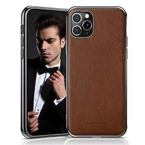 """LOHASIC for iPhone 11 Pro Case, Business Slim PU Leather Elegant High-end Luxury Cover Drop Proof Bumper Anti-Slip Soft Grip Full Protective Phone Cases for iPhone 11 Pro(2019) 5.8""""- Brown"""