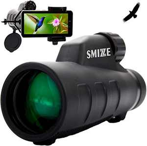SMiZZE Monocular Telescope - 12 X 50 High Definition Spotting Scope BAK-4 FMC Aluminum Frame Monoculars for Adults Waterproof & FogProof ideal for Bird Watching, Travel, Camping, Hunting, Surveillance