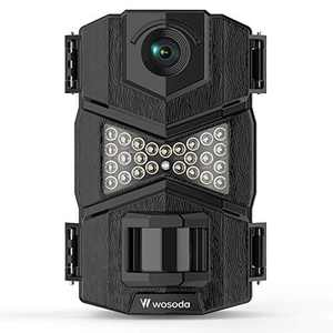 WOSODA 16MP 1080P Trail Camera, with Upgraded 850nm IR LEDs Night Vision 260ft Wildlife Camera, Game Camera for Home Security Wildlife Monitoring/Hunting(1pack)