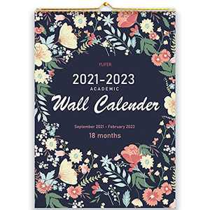 2022 Calendar ,2021-2022 Wall Calendar,18 Monthly Large Wall Calendar 12x17 Inches with Thick Paper,,Vibrant and Colorful September 2021- March 2023