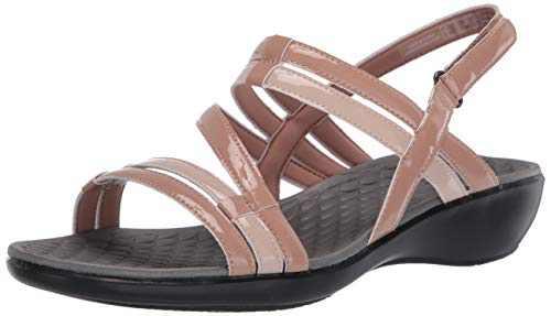 Clarks Women's Sonar Pioneer Sandal, Praline Synthetic Combi, 6
