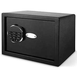 Digital Electronic Security Safe Box, Home Safe with Digital Keypad 0.57 Cubic Feet Black for Jewelry Money Cash Valuables