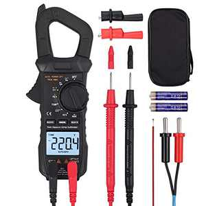 Proster Digital Clamp Meter TRMS 600A AC Current AC/DC Voltage 6000 Counts NCV Continuity Capacitance Resistance Frequency Diode Hz Test Square Wave