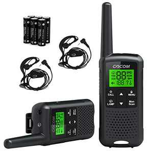 GOCOM G200 Family Radio Service (FRS) Walkie Talkies for Adults, Long Range Two Way Radios Rechargeable 22 CH NOAA VOX Scan Flashlight Frequency Range:462.55-462.725MHz,467.5625-467.7125MHz UHF