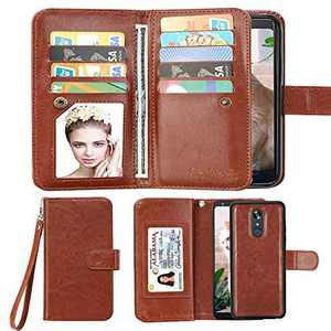 Spritech Note 10 Wallet Case,Premium Leather Folding Flip Wallet Case Cover with Card Slots Magnetic Closure Protective Cover Detachable Wallet Folio for Samsung Galaxy Note 10