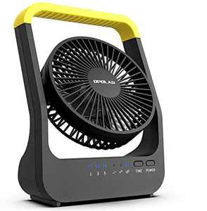HomeMarvel Camping Fan, Battery Operated Fan, Powered by USB or 4 D Batteries (not Included), 3 Speeds, Quiet Long Lasting Desk Fan, Great for Hurricanes Power Shortage, 5 Inch