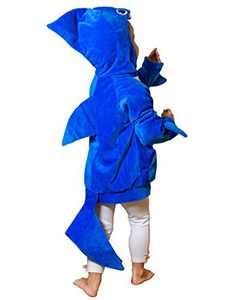 ComfyCamper Blue Shark Costume Hoodie, 6-8 Years