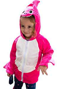 ComfyCamper Pink Shark Costume Hoodie with Pants, 2-4 Years