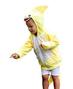 ComfyCamper Yellow Shark Costume Hoodie, 4-6 Years