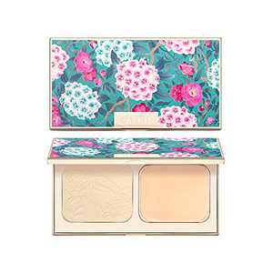 CATKIN Makeup Face Pressed Powder Foundation Compact Matte Conceal Pores Silky Smooth Creamy Texture (C01 Ivory)