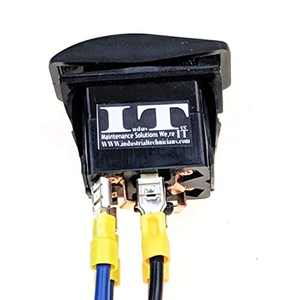 IndusTec Dc Motor polarity - reversing Momentary Automatic Reset Rocker switch 12v 20A continous DPDT 4 Pin With Pigtail Wires