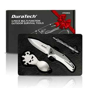 DURATECH Gifts for Men Dad Fathers Day Tactical Folding Knife, Multitool Combo Kit, Tactical Pen, Utility Survival Tools for Camping, Hiking, Hunting and Fishing