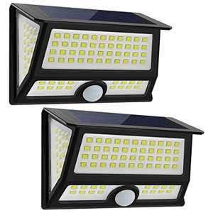 CREATIVE DESIGN Solar Lights Outdoor, 102 LED Solar Motion Light Wall Light Solar Garden Light with 3 Modes Wide Angle for Patio Yard Deck Garage Porch Stairway Driveway