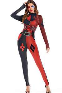 Selatamy Women's Digital Print Long Skinny Bodycon Christmas & Halloween Costumes Jumpsuit Bodysuit One-Piece Catsuit