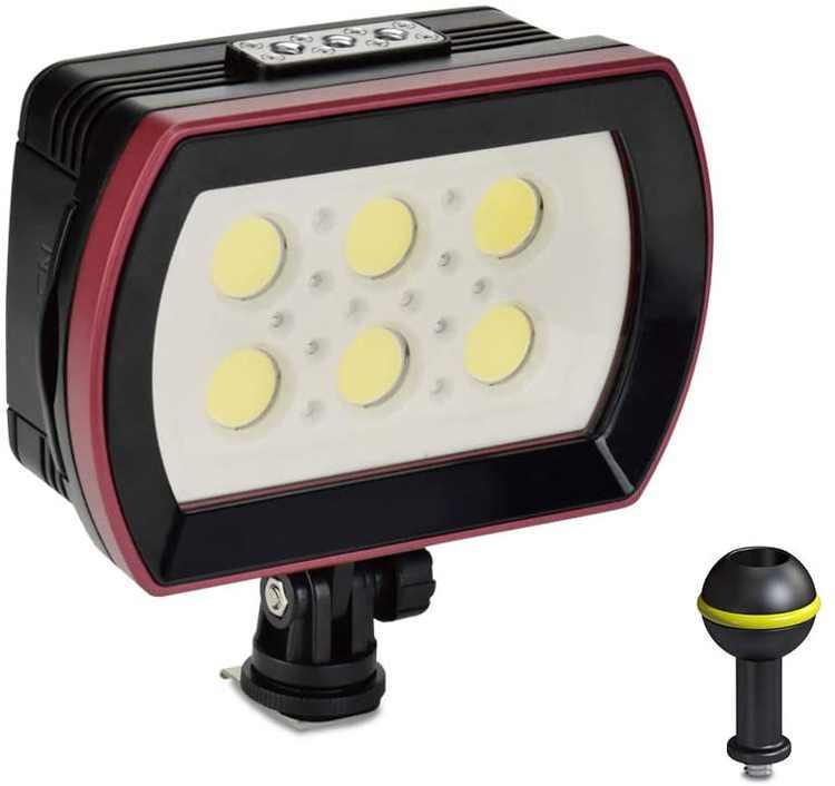 Sea frogs Aluminum LED Diving Light 7000-7500K Underwater Photography Lamp for underwater photography and outdoor activities