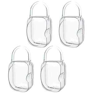 LANEYLI Pacifier Case Pacifier Holder Binky Holder Case Pacifier Box for Diaper Bag Home Travel Outdoor Activities 4 Pack Transparent