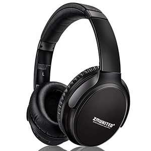 ZMYGOLON Active Noise Cancelling Headphones Wireless Over Ear Bluetooth 5.0 Headphones with Microphone, Hi-Fi Stereo Deep Bass, 30H Playtime for Travel, Online Class, Home Office