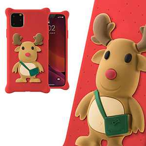 Bone Silicone iPhone 11 Pro Case, Cute 3D Animal Cartoon Design Protective Case for iPhone 11 Pro, Phone Bubble Figure Series (Mr. Deer)