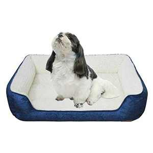 JOJEPET Durable Pet Bed for Dogs & Cats Washable Pet Sofa Bed Soft & Comfortable Puppy Dog Bed (26-in, Blue)