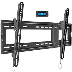 "BLUE STONE Tilt TV Wall Mount Bracket for Most 32-83 Inches LED, LCD, OLED, Plasma Flat Screen, Curved TVs, Max VESA 600x400mm and 165lbs Loading, Low Profile, Fits 16"",18"",24""Studs, with Bubble Level"