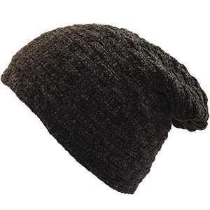 WAZAIGUR Winter Warm Soft Slouchy Thick Beanie Knit Cap Men and Women Ski Knitting Hats Brown