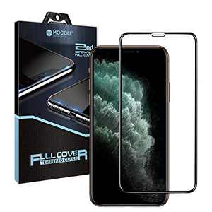 MOCOLL iPhone 11 Pro/X/XS Anti Blue Light Screen Protector, 2nd Generation Full Glue Ultra Slim High Definition Full Screen Tempered Glass Eye Protector Film for iPhone 11 Pro/X/XS(5.8inch)