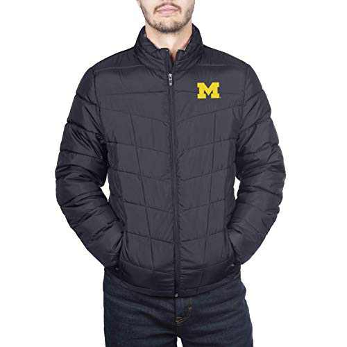 Spyder Michigan Wolverines Men's Full Zip Pelmo Gameday Puffer Jacket, Medium