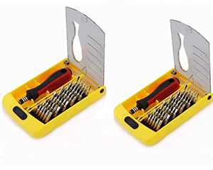 Pack of 2 Precision Screwdriver Set, Fomatrade 37in 1 Screwdriver Set, Multi-function Magnetic Repair Computer Tool Kit Compatible with iPhone/Ipad/Android/Laptop/PC etc