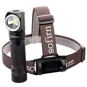 Sofirn SP40 Rechargeable Headlamp with CREE XPL 4000K LED, 18650 battery(Inserted) and USB Cable, for Repairing, Camping, Hiking, Running