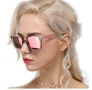 Myiaur Classic Sunglasses for Women Polarized Driving Anti Glare 100% UV Protection (A Pink Frame/ Pink Mirrored Polarized Lens)