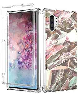 Galaxy Note 10+ Plus Case,Spevert Marble Pattern Shock Absorption Stylish Case Without Built-in Screen Protector Case Cover Compatible for Samsung Galaxy Note 10+ Plus (Brown)