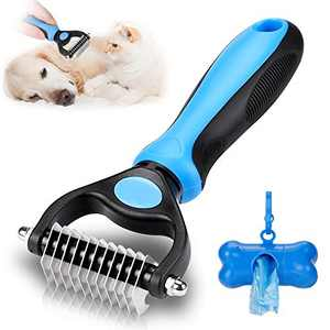 KAYI Dematting Dog Brush, Pet Grooming Brush for Dogs & Cats. Undercoat Comb Tangles Removing Deshedding Shedding Brush for Long Short Hair, 1 Side Grooming Tool