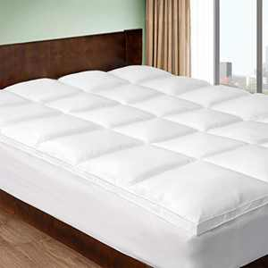 CHOKIT Extra Thick Twin Size Mattress Topper, Cooling Cotton Mattress Pad Cover, 400 TC Pillow Top Construction (8-21Inch Deep Pocket),2 Inches Thick Breathable Snow White