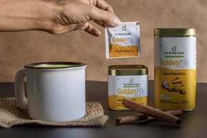 The Divine Foods | Organic Golden Milk Latte | 56 Servings | (8.8 oz) | Natural Detox Drink Dnd | Haldi Milk | Anti-Inflammatory | High Curcumin | Non - GMO | Nutrient Dense Superfoods | 100 % Natural
