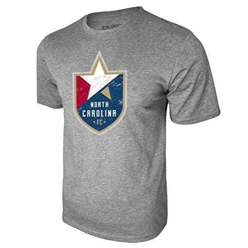 Icon Sports North Carolina Football Club Cotton T-Shirt (Small, Heather Gray)